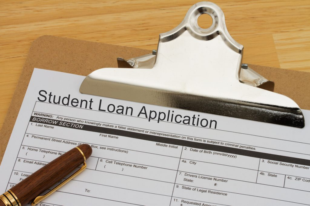 how do student loans work application form