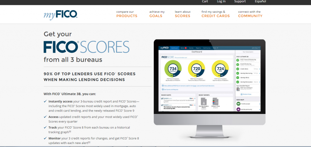 how to check your credit score on the myfico.com website