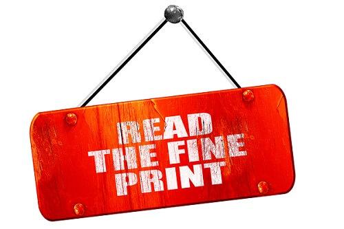 read the fine print when financing furniture