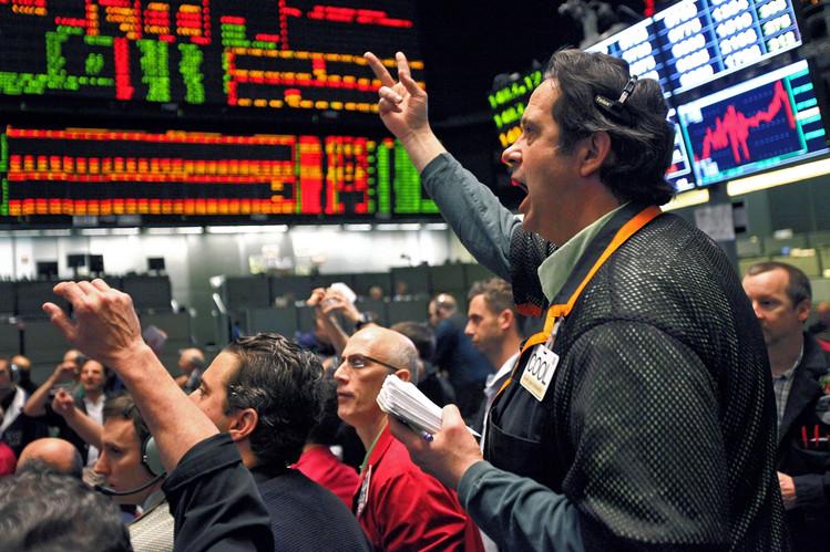 Trading floor stock market