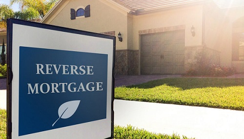 Reverse mortgage pros and cons: house in the background.