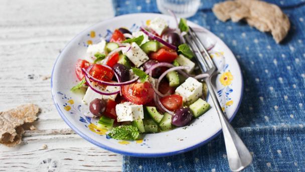 Plate of Greek Salad
