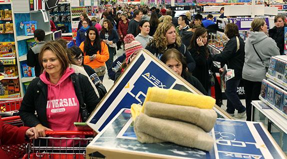 Shopping stampede