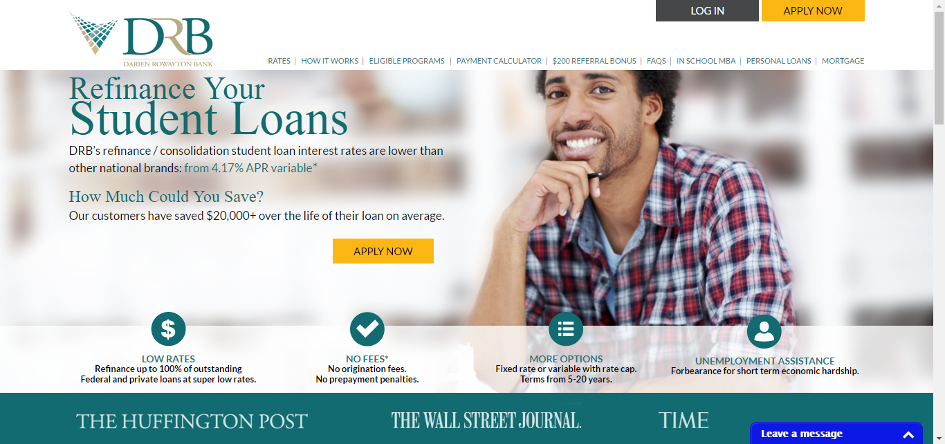 best banks that offer student loans - Darien Rowayton Bank