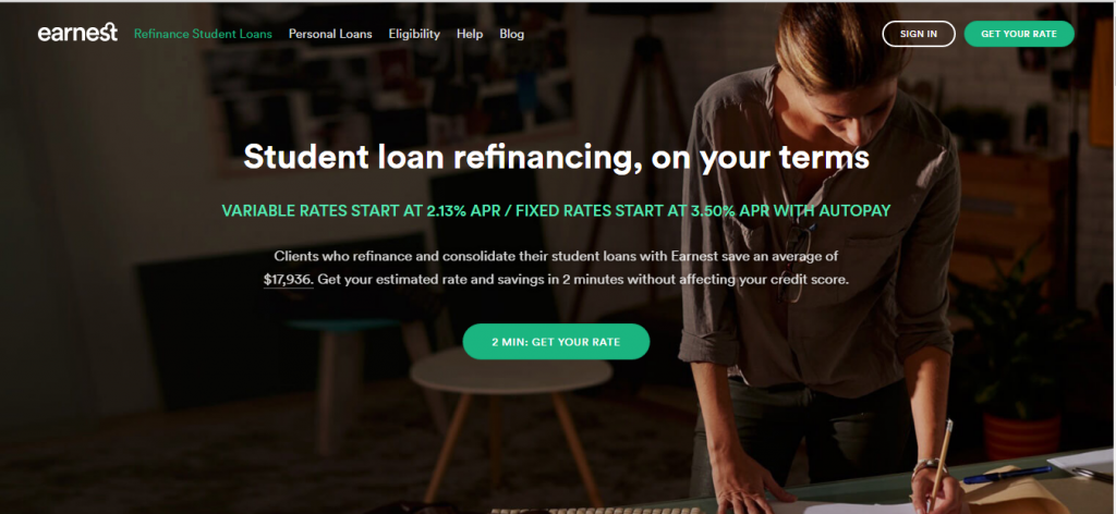 best banks that offer student loans - Earnest