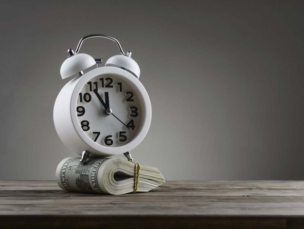 student loan deferment concept art time is money