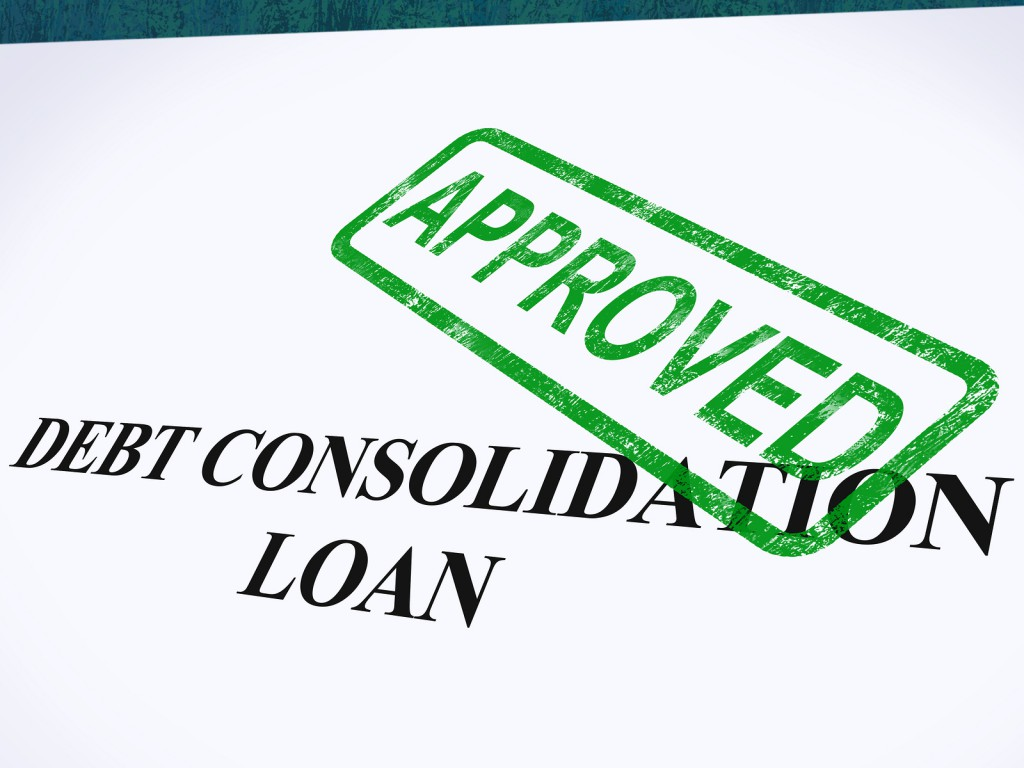 debt consolidation loan approved sign