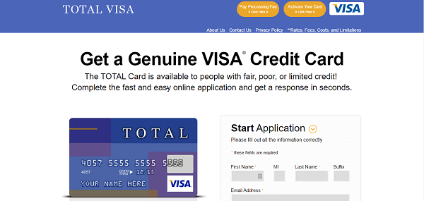 total visa credit card in credit cards for people with bad credits - Total Visa Unsecured Credit Card
