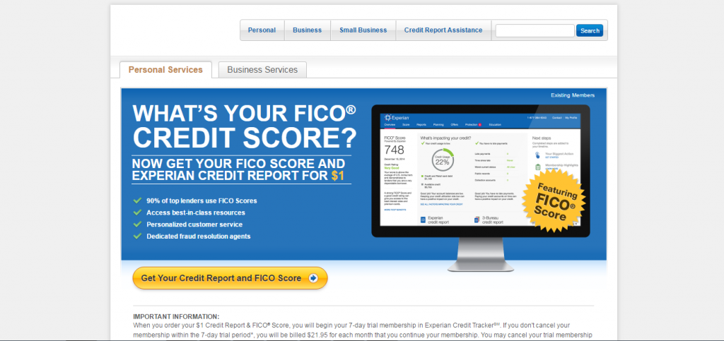 how to check your credit score on the experian website