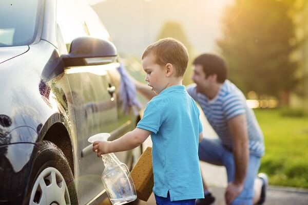 wash your car as means of frugal living