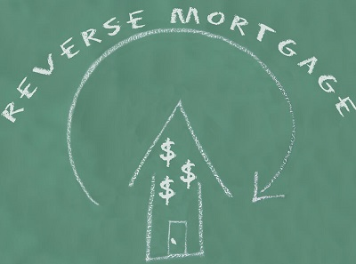 Reverse mortgage drawing in chalk