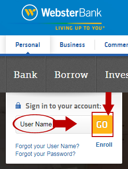 Webster Bank login 2