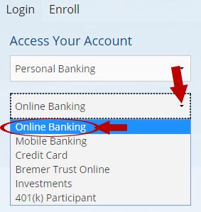 Bremer Bank Login Step 2