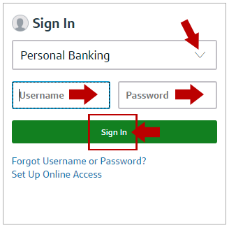 Capital One Online Banking Login Menu