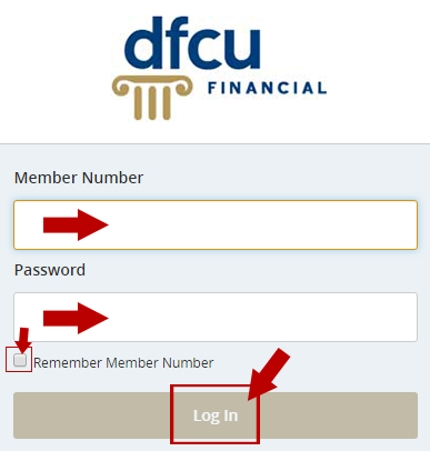 DFCU Online Banking Login Step 2