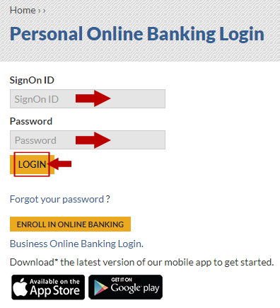 Tri Counties Online Banking Login Step 3