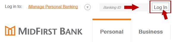 MidFirst Online Banking Login Step 2
