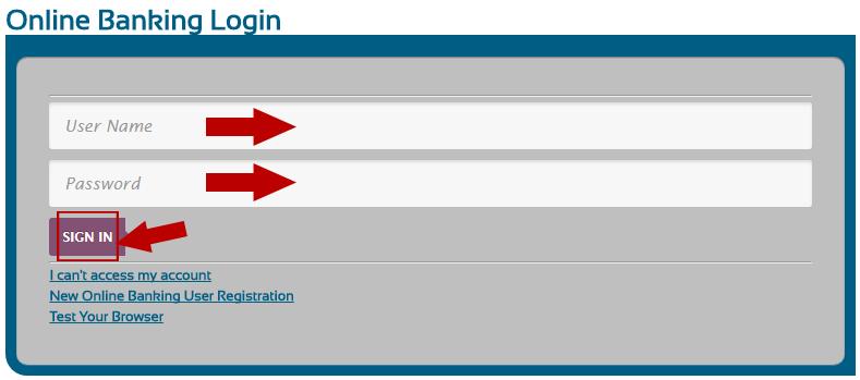 TFCU Online Banking Login Step 2