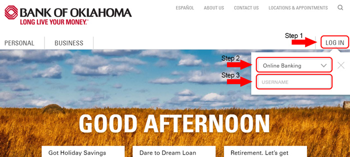 bank of oklahoma account login