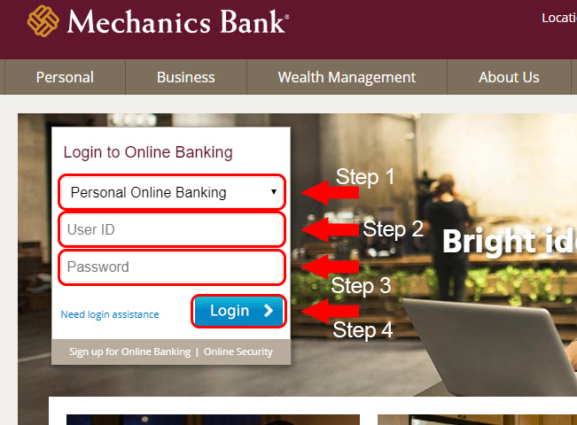 mechanics bank online banking