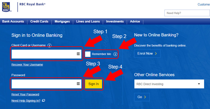 rbc royal bank internet login