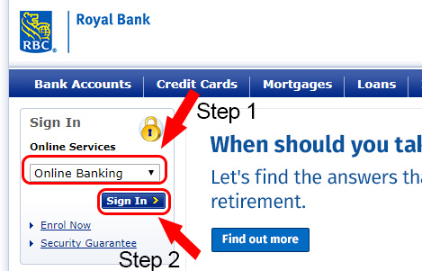 royal bank homepage sign in