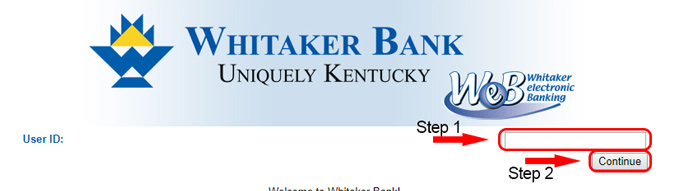 whitaker bank members login