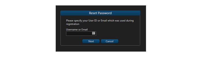 eOption Reset Password