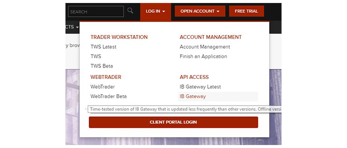 Interactive Brokers WebTrader Login at www