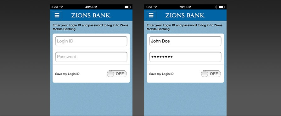 zion bank log in and password