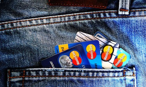 atm card in the pocket